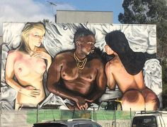 """Contentious new Street Art of & by the Artist Lushsux Urban Graffiti, Street Art Graffiti, Kanye West Music Video, Street Installation, Epic Photos, Arte Popular, Land Art, Figure Painting, Urban Art"