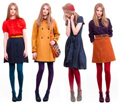 54 best Ideas for dress vintage winter tights 70s Fashion, Look Fashion, Winter Fashion, Fashion Design, Fashion Vintage, Dress Fashion, Fashion Styles, Look Vintage, Vintage Mode