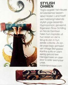In the May issue off dutch 'Marie Claire' magazine- the Hidden Land yoga bags - It's a high quality bag of vintage textiles and vegetable tanned leather. Vintage Quilts have been transformed into a contemporary design. Leather and beautiful Indigo dyed made by Hiddenland. #yoga #bag #handwoven #quality #designbag #vintage #quality  #style #lifestyle #leatherbag #indigo #dye #handmade #craftmanship #sustainability #heritage #body #shape #happiness #bodymethod #namaste #yogamatbag…