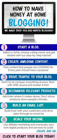 How to make money blogging and working from home - how we make over $50,000/month with our blogs! Learn more at #createandgo