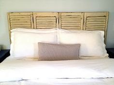 headboard from shutters. I have the shutters, now I just need to make this happen!
