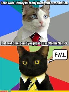 Business Cat - Business Presentation Business Cat Meme, Cat Pin, Business Presentation, Animals Images, Image Macro, Cat Memes, Laugh Out Loud, Funny Quotes, Hilarious