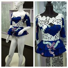 Collection of the most beautiful and stylish ankara peplum tops of 2018 every lady must have. See these latest stylish ankara peplum tops that'll make you stun Ankara Peplum Tops, Ankara Blouse, Ankara Dress, Peplum Blouse, African Blouses, African Tops, African Women, African Print Dresses, African Fashion Dresses