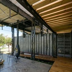 Today's shipping container home is a little more industrial than usual. Different but beautiful! Designed jointly by Daniel Moreno Flores & Sebastian...