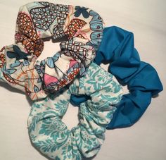 Hair Scrunchies Scruncheys Scrunchys Pony Tail by thriftyvicki