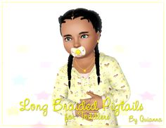 Quianna: Long Braided Pigtails (for Toddlers)