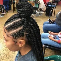 56 Dope Box Braids Hairstyles to Try - Hairstyles Trends Box Braids Hairstyles, Black Girl Braided Hairstyles, Black Kids Hairstyles, Braided Hairstyles Tutorials, Daily Hairstyles, Hairstyles 2018, Corn Row Hairstyles, Simple Hairstyles, Homecoming Hairstyles