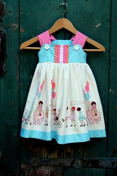Sweet Children On Parade Dress by The Cottage Mama. Custom Order - Sizes 6M 12M 18M 2T 3T 4T 5 6 7 8. $46.00