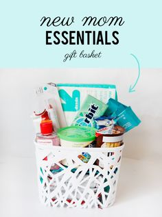 what to bring a new mom: new mom essentials gift basket //