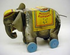 1948 - 1950 Fisher Price Musical Elephant