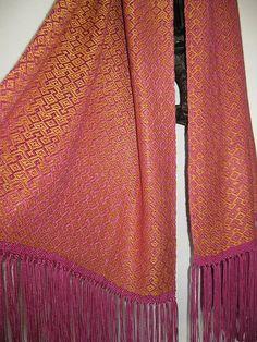 Handwoven Heavy Silk Shawl by tisserande, via Flickr
