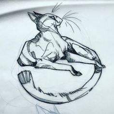 how to draw chibis Animal Sketches, Animal Drawings, Art Sketches, Creature Drawings, Cat Drawing, Drawing Techniques, Pretty Art, Art Plastique, Furry Art