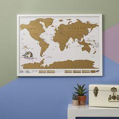Zdrapywalna mapa świata | Sklep Busem Przez Świat