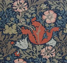 William Morris Fabrics and Wallpapers | Compton wallpaper late C19th