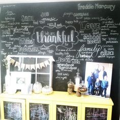 just what i {squeeze} in: The completed Thanksgiving Wall