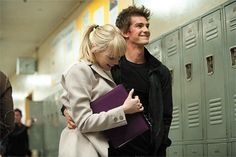 Emma Stone and Andrew Garfield in The Amazing Spiderman :)