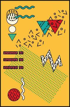 Resultado de imagen para memphis graphic design poster