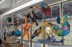 Paper Mache' Sea Creature Installation - Conway High School Art Project