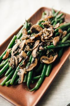 Recipe: Stovetop Steam-Fried Green Beans and Mushrooms  — 5 Stovetop Side Dishes for Thanksgiving | The Kitchn