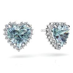 Heart-shaped Aquamarine earrings