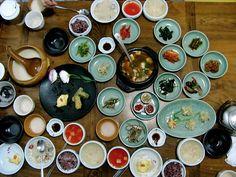 Art Korean food-for-thought Korean Food Names, Korean Side Dishes, Korean Street Food, Japanese Food, Food For Thought, Asian Recipes, Great Recipes, Food Porn, Food And Drink