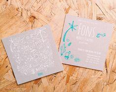 FONS!! Zeefdruk, screenprint. Handmade with love!! Geboortekaartje, geboortekaartjes op maat. Stoer jongenskaartje, kan ook voor een meisje! Betaalbare en unieke kaartjes.   GRATIS PROEFPAKKETJE!! check de Site