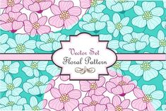Three cute floral vector patterns by utro_na_more on @creativemarket