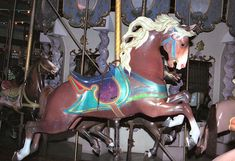 Forest Park Carousel Muller Row Jumper - Ornate Peek-A-Boo Mane! Carosel Horse, Sea Isle City, Wooden Horse, Painted Pony, Forest Park, Pretty Horses, Spirit Animal, The Row, North America