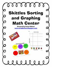 This download is for a Skittles candy sorting and graphing math center.  Skittles are a great alternative to my M
