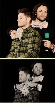 Jared and Jensen | Jay just lets it happen because he's so used to Jared's b.s. at this point. Ahahahaha