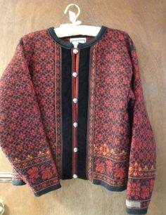 Womens Dressy Vintage Dale of Norway Wool Cardigan by BathoryZ