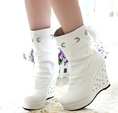 Special All about stylish-High Heels Boots High Heel High Heels Boots (black,white)