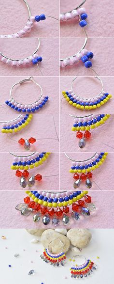 Colorful hoop earrings, like them? LC.Pandahall.com will share us the tutorial soon. #pandahall