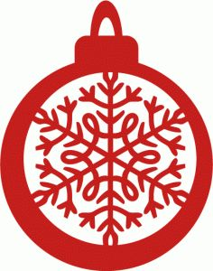 Silhouette Design Store - View Design #71241: christmas bauble intricate snowflake