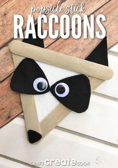 animal crafts for kids Our Raccoon Craft for Kids is a perfect indoor craft activity for a chilly Fall day! One summer we took a trip to Sleeping Bear Dunes National Lakeshore to Forest Animal Crafts, Animal Crafts For Kids, Fall Crafts For Kids, Summer Crafts, Toddler Crafts, Forest Animals, Craft Kids, Popsicle Stick Crafts For Kids, Popsicle Sticks