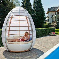 no ovo outdoor bed design 5 Multifunctional Furniture Design . Outdoor Retreat, Outdoor Spaces, Outdoor Chairs, Outdoor Living, Outdoor Decor, Lawn Chairs, Outdoor Seating, Outdoor Fun, Outdoor Garden Furniture