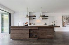 Laminate flooring in a modern kitchen