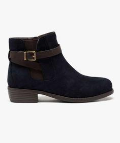 Chelsea boots avec boucle contrasté