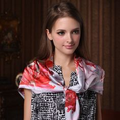 Silk Large Square Floral Scarf