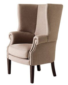 "For conversation and lounging after a long meal, this cozy 44""-tall chair beckons."