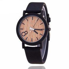 Wooden Relojes Quartz Women Watch Case Material: Stainless Steel Dial Window Material Type: Glass Movement: Quartz Dial Diameter: 40mm Clasp Type: Buckle Band Material Type: Leather Case Shape: Round Band Length: 24cm Band Width: 19mm Case Thickness: 8.8mm www.leonardwatche...