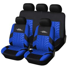 AUTOYOUTH 3 Colour Track Detail Style Car Seat Covers Set Polyester Fabric Universal Fits Most Car Covers Car Seat Protector