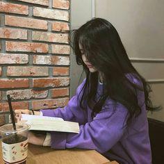 Read STUDY 📒 from the story Korean Ulzzang by fiandaintan with reads. Pretty Korean Girls, Cute Korean Girl, Cute Asian Girls, Cute Girls, Mode Ulzzang, Ulzzang Korean Girl, Ulzzang Couple, Korean Aesthetic, Purple Aesthetic