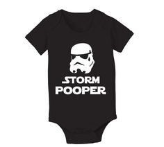 Storm POOPER - funny cool hip retro jedi movie star wars trooper humorous boy girl jumper creeper new Infant - Baby Black ONE-PIECE DT0284 on Etsy, $9.90