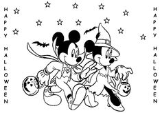 Halloween+Coloring+Pages | Halloween Coloring Pages Mickey Mouse Minnie Costume