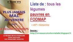 MAJ : Liste de tous les légumes pauvres en FODMAP (et histamine/AIP) - Guérir ses intestins irrités, perméables