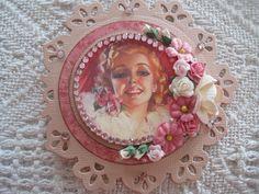 pink girly handmade card