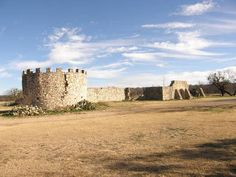 Real Presidio de San Saba ruins Menard, Texas. Spanish mission laid to ruin in 1758 largely led by Comanche indians.
