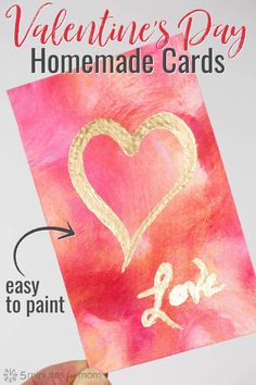 It's easy to create a beautiful Valentine's Day painting with this step-by-step tutorial. These DIY Valentine's Day cards and paintings are an easy art project for all ages. This craft is sponsored by Testors. Valentines Day Gifts For Friends, Diy Valentines Cards, Valentines Day Decorations, Valentines For Kids, Valentine Day Crafts, Funny Valentine, Date, Fun Printables For Kids, Her Wallpaper