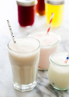 Homemade Cream Sodas | DIY flavored Vanilla, Raspberry & Orange syrups. Make from carbonated water (seltzer water), cream, and syrup